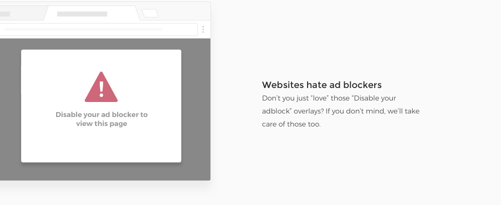 Websites hate ad blockers